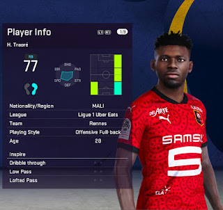 PES 2021 Faces Hamari Traore by Fleishman