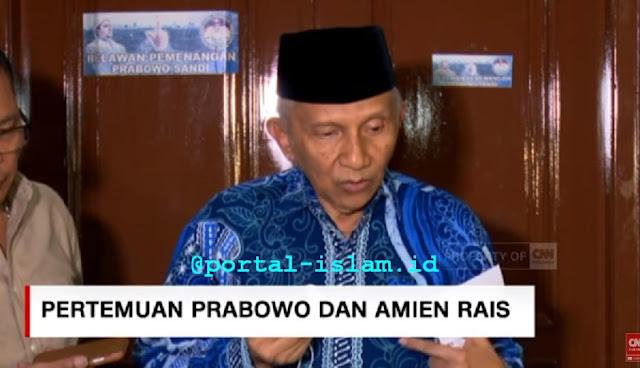 KEJUTAN! Amien Rais Sebut Prabowo Mau Rekonsiliasi dengan Jokowi dengan Syarat Power Sharing 55:45 Sesuai Hasil Pilpres Versi KPU-MK