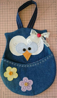used jeans, owl