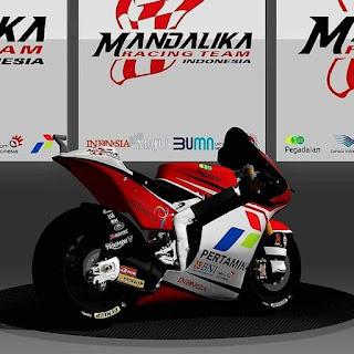 Grafis Motor Mandalika Racing Team Moto2 Musim 2021 . . . Indonesia Banget !
