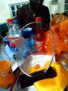 AYL's Technical Officer, Fidwon Fidelis Israel wins Best Blogger Award