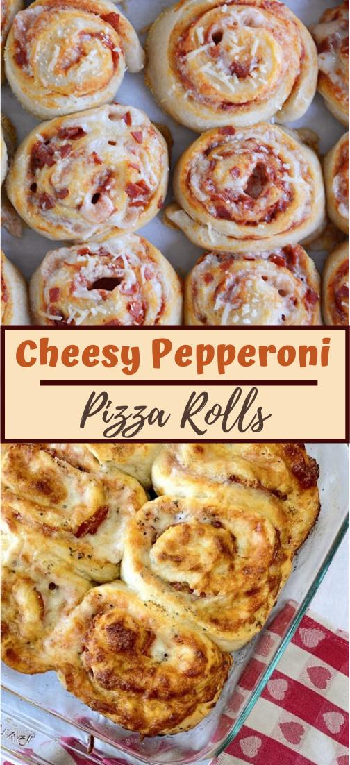 Cheesy Pepperoni Pizza Rolls #dinnereasy #quickandeasy #dinnerrecipe #lunch #amazingappatizer