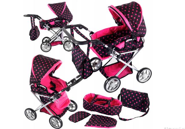 Wózek, wózek dla lalki, lalka, wózek głęboki, wózek spacerowy