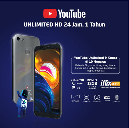 #Shopee - #Promo Flash Sale XL Xtream Ultima X (Unlimited Youtube 24 jam 1th)