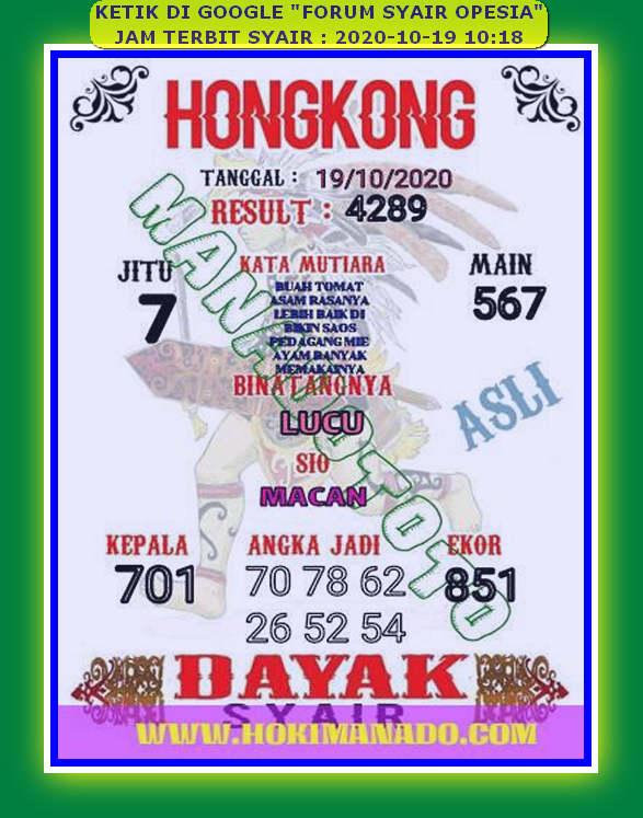 Kode syair Hongkong senin 19 oktober 2020 143