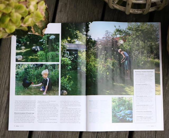 Artikel om min have i Bolius´s magasin