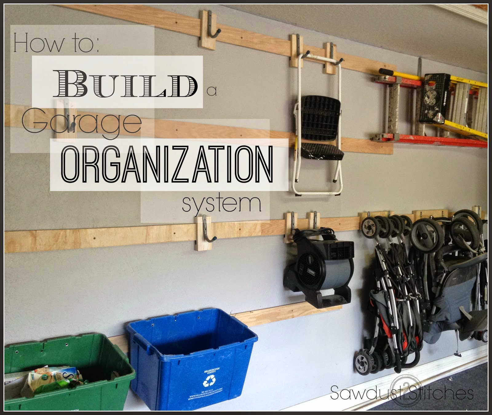 Garage Organization Shelving: Sawdust 2 Stitches