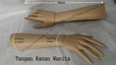 Patung Manekin Display Pajangan Tangan Wanita