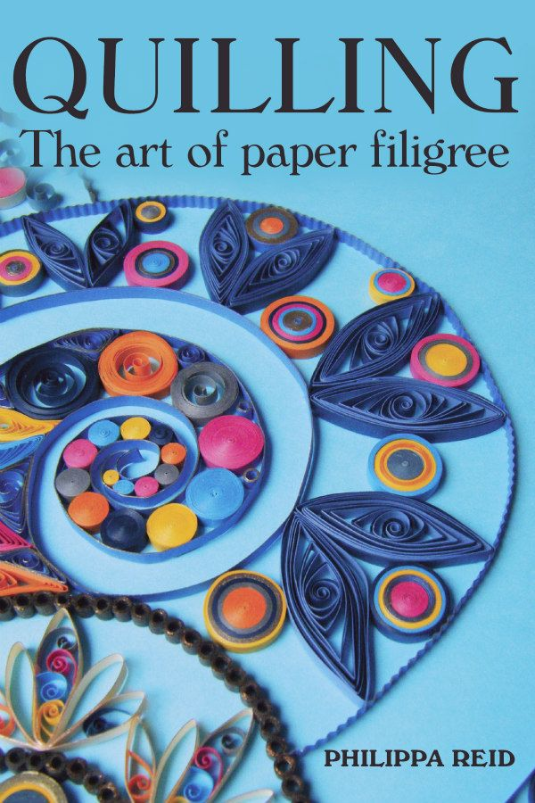 quilling book cover with colorful, circular pattern