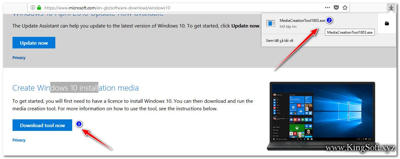 Hướng dẫn tải Windows 10 mới nhất từ trang chủ Microsoft.