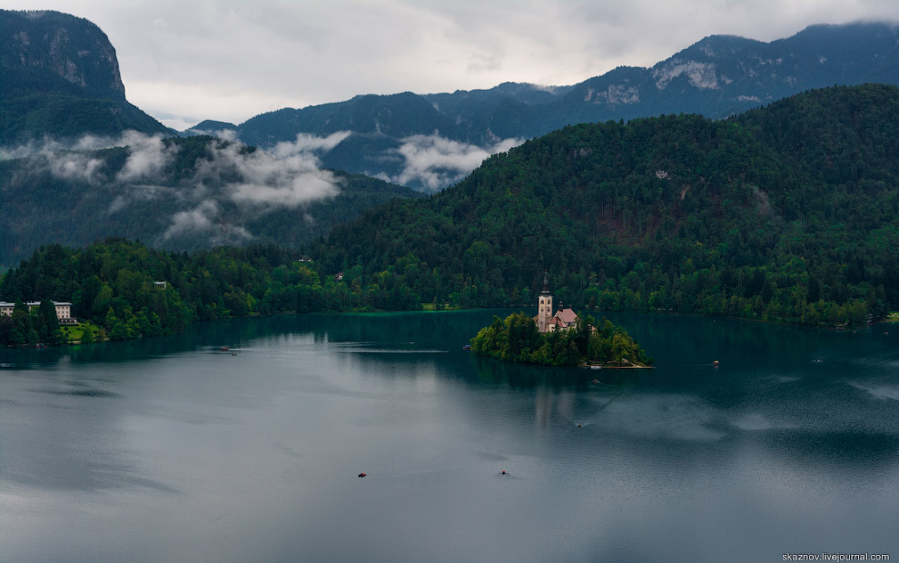 Озеро Блед в Словениии