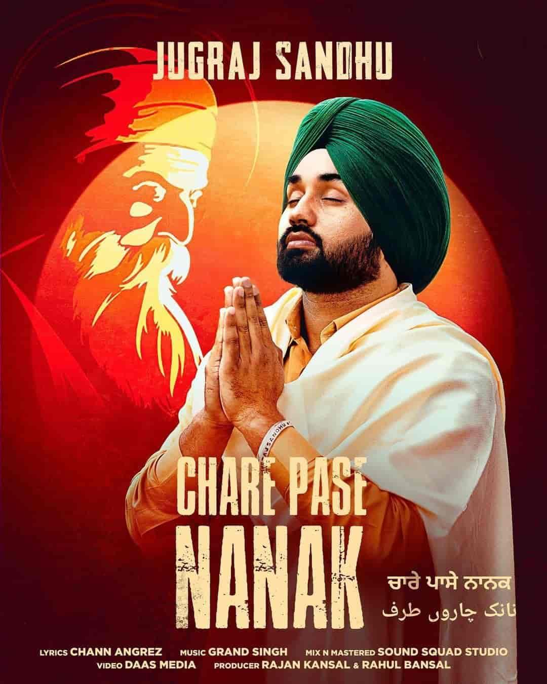 Chare Pase Nanak Punjabi Song Image Features Jugraj Sandhu