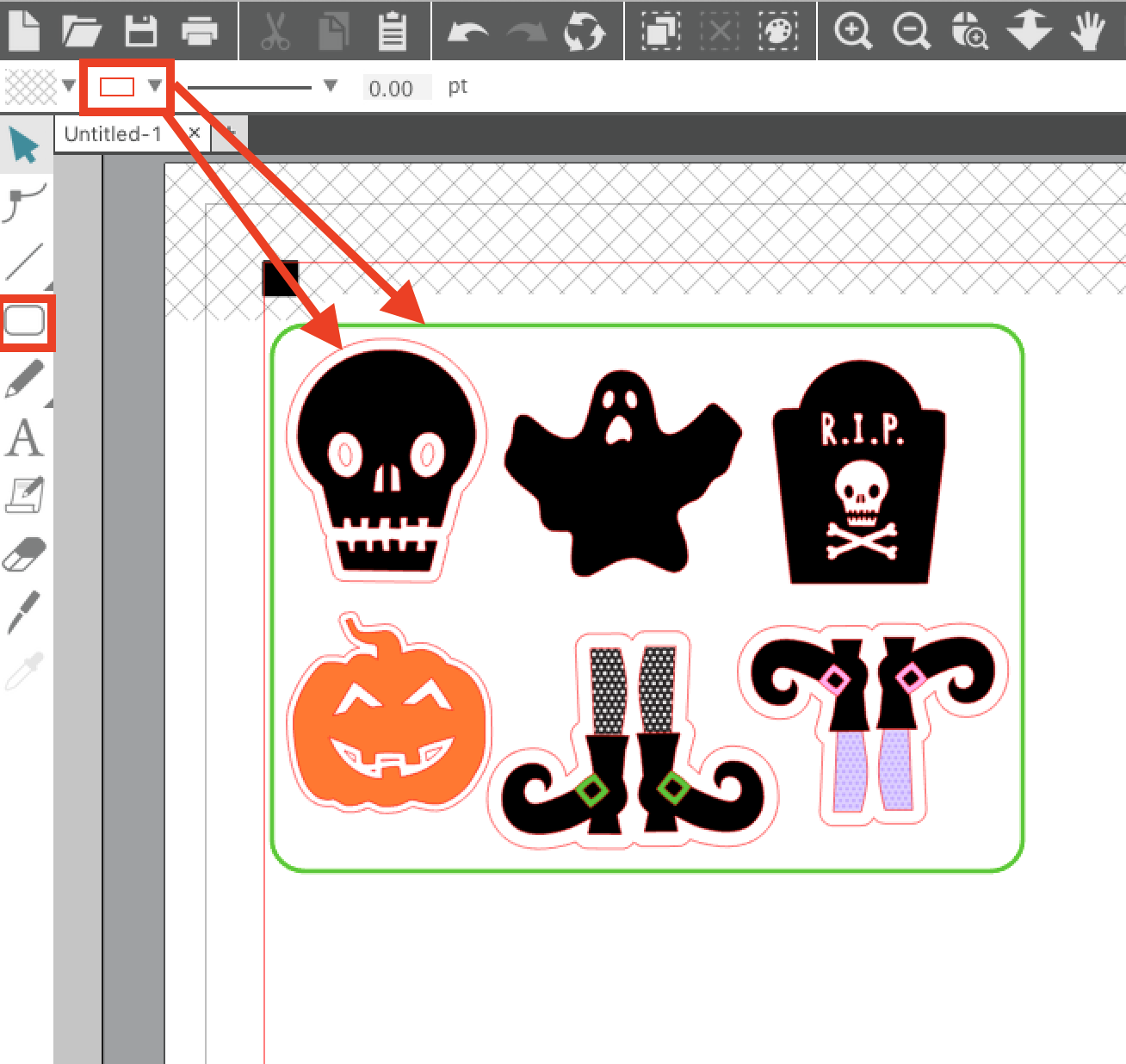 How To Make Print And Cut Sticker Sets Silhouette Studio V4