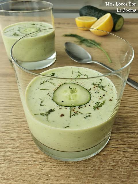 Sopa Fría de Pepino, Yogur Griego y Eneldo