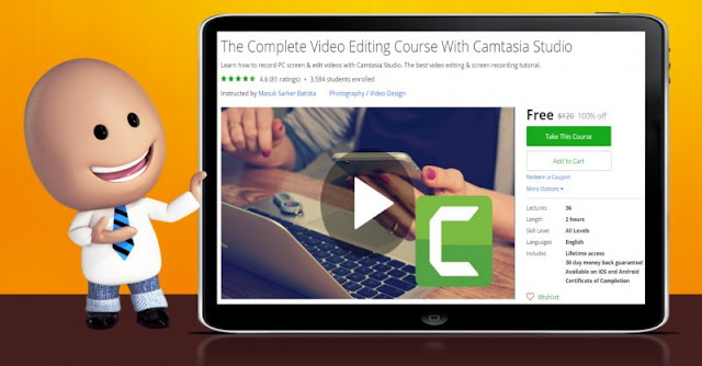 [100% Off] The Complete Video Editing Course With Camtasia Studio| Worth 120$