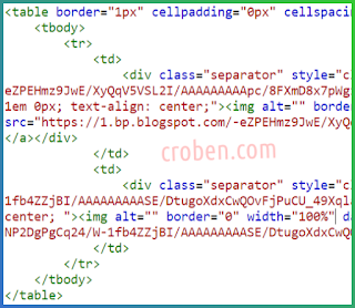 Side By Side Images In Blogger Step 6
