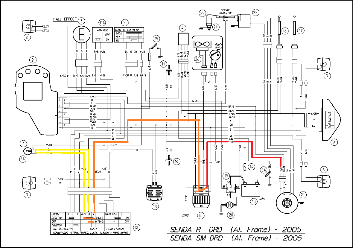 Derbi Senda 50cc Wiring Diagram Geyser Element Somurich