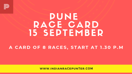 Pune Race Card 15 September