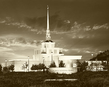 Billings Montana Temple by Kendall Davenport