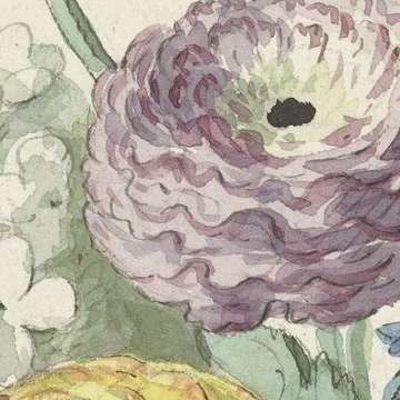Boeket bloemen in de hals van een groene vaas, Willem van Leen, c. 1763 - c. 1825 (fragmento)
