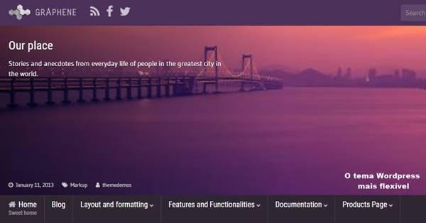 tema Wordpress flexível