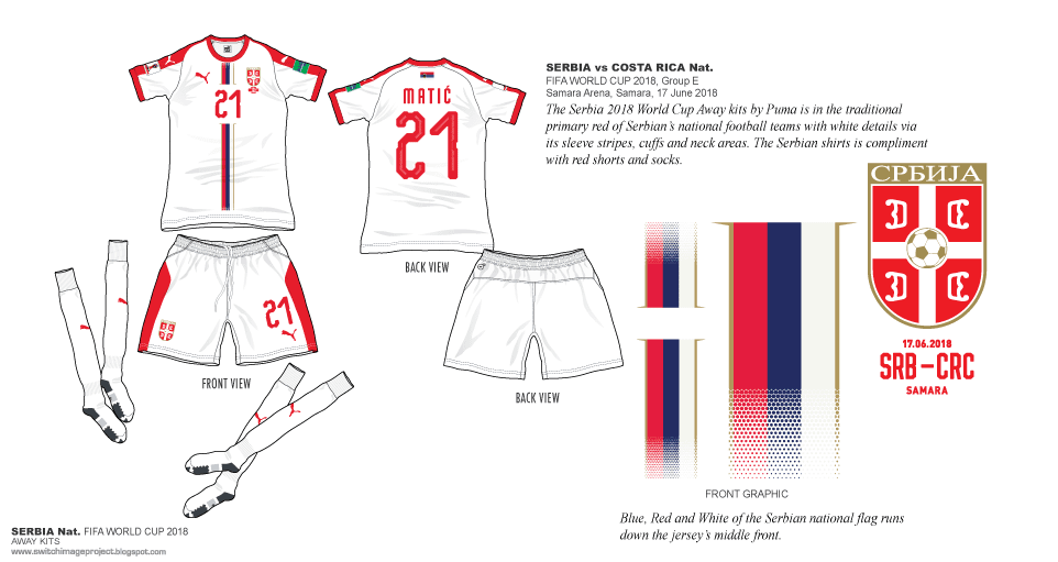 d7ef141edbd The Away shirts was worn during the FIFA World Cup action at Russia 2018  group E. Match against Costa Rica at Samara Arena on June 17