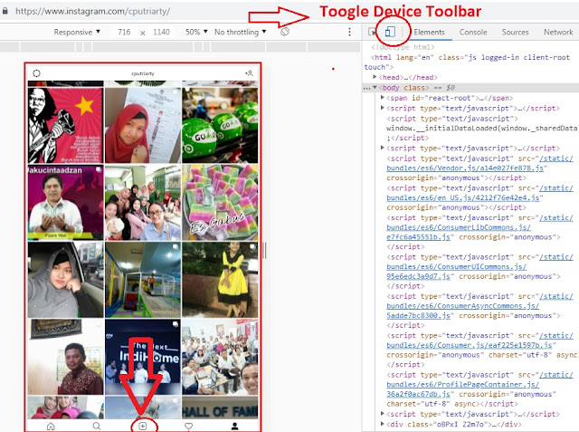 toogle device toolbars