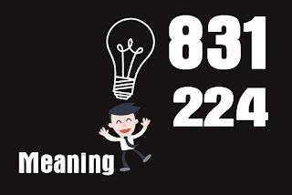 Arti 831 224 Meaning dan Kode Gaul
