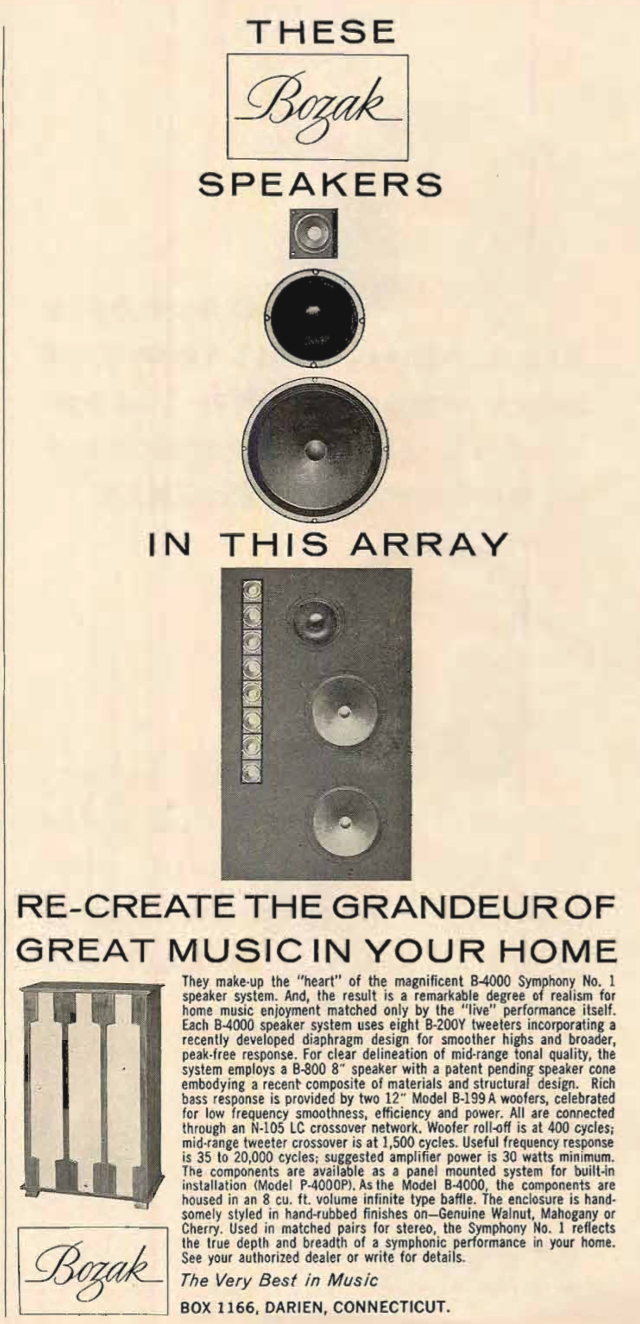 Bozak Speaker Array Advert