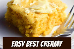 Easy Creamy Cornbread Casserole Recipe #thanksgiving #thankgivingrecipes #thanksgivingsidedishes