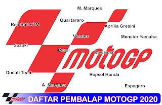 Daftar Pembalap Motogp Musim Tahun 2020