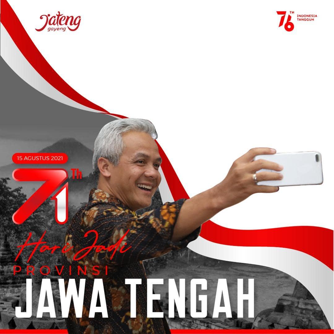 Link Download Bingkai Foto Twibbon Selamat Hari Jadi Provinsi Jawa Tengah ke-71 Tahun 2012 - Twibbonize