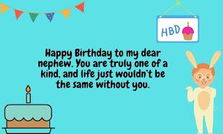 special birthday wishes for nephew