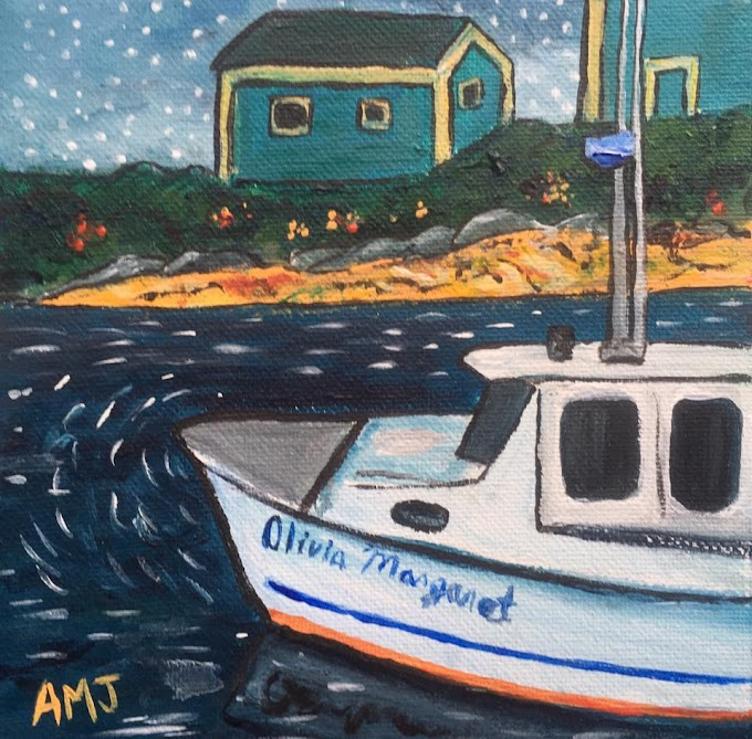 Olivia Margaret at Peggy's cove - Original Painting