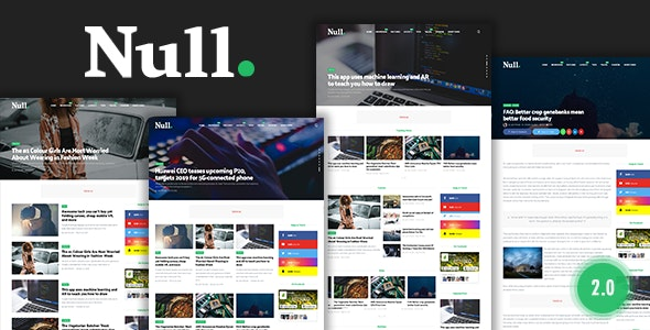 Free Download Null - News & Editorial Magazine Blogger Template