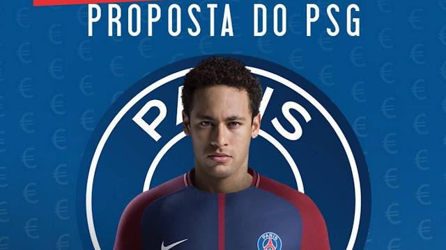 Neymar acepta la oferta del PSG según un medio de Brasil