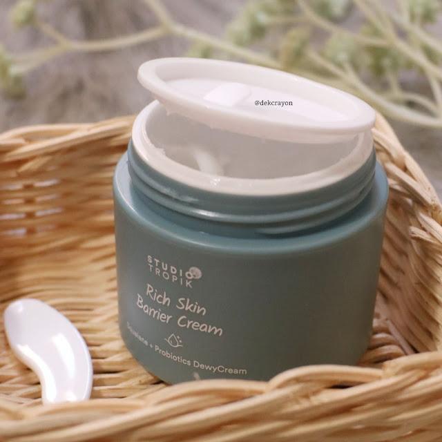 studio tropik rich skin barrier cream, pelembap lokal untuk kulit kering