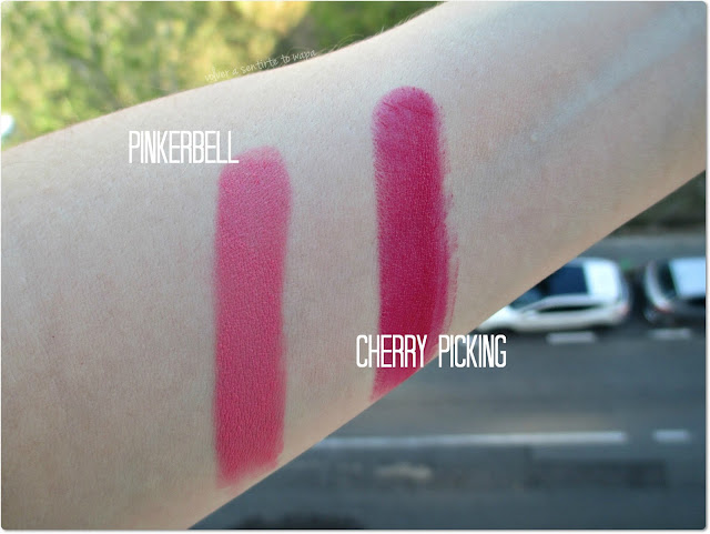 Labiales de Wet n' Wild: Pinkerbell y Cherry Picking - Swatches
