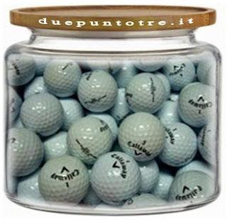 Il professore e il vaso pieno di palle da golf