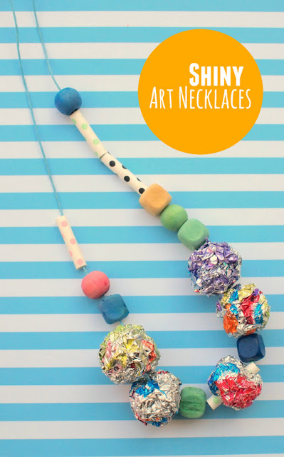 Shiny Aluminum Art Necklace- Fun Kids craft