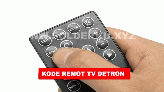 KODE REMOT TV DETRON TABUNG