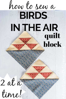 birds in the air quilt block