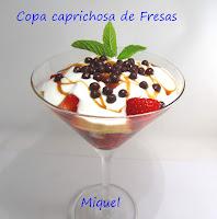 Copita caprichosa de fresas