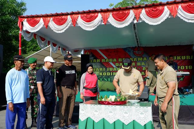 KodimKaranganyar - Olahraga Bersama dan Tasyakuran Peringati Hari Juang TNI-AD