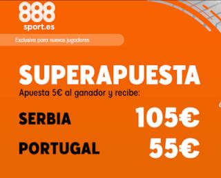 888sport superapuesta euro 2020 Serbia vs Portugal 7 septiembre 2019