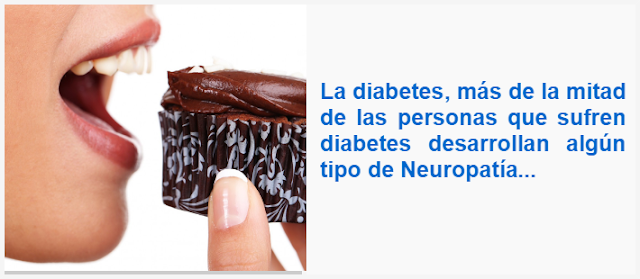 la diabetes, más de la mitad de las personas que sufren diabetes desarrollan algún tipo de Neuropatía