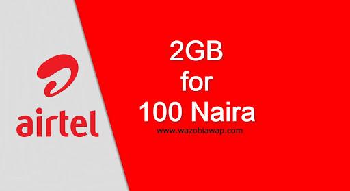 airtel 2gb for 100 naira