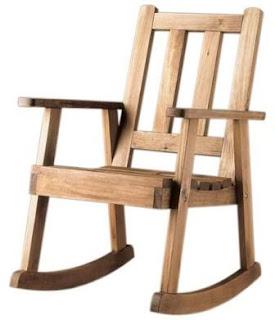 mecedora madera rustica, balancin rustico, mueble rustico