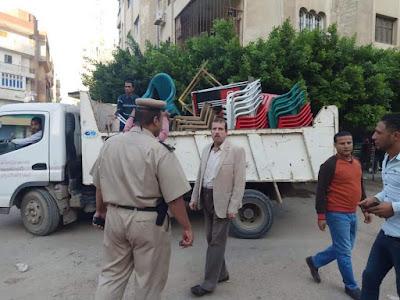 محافظ كفرالشيخ يوجه باستمرار حملات رفع الاشغالات من شوارع عاصمة المحافظة