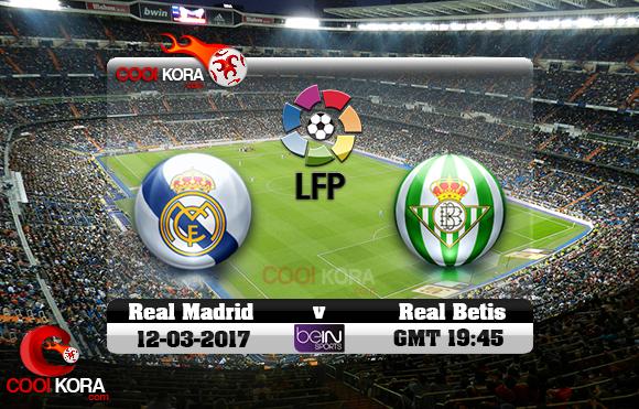 مشاهدة مباراة ريال مدريد وريال بيتيس اليوم 12-3-2016 في الدوري الأسباني